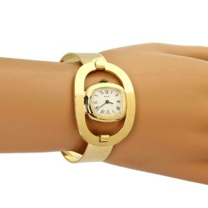 Gucci Vintage 18k Yellow Gold Ladies Fancy Horse Stirrup Motif Wrist Watch