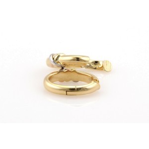 Cartier 18K Tri Color Gold Trinity Clip On Hoop Earrings With A Certificate