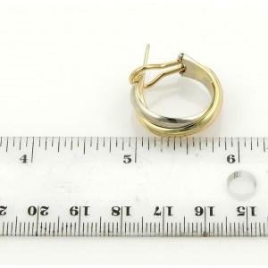 Cartier Trinity 18k Tri-Color Gold Midium Size Hoop Earrings