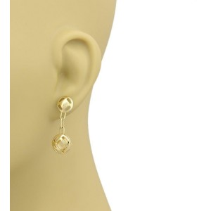 Cartier Pasha 18k Yellow Gold Drop Dangle Earrings