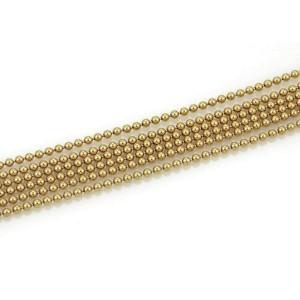 Cartier Draperie de Decollete Six Strand Beaded 18k Yellow Gold Bracelet w/Paper