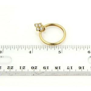 Cartier 18K Yellow Gold Hindu Diamond Floral Hoop Earrings