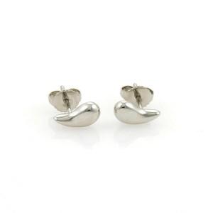 Tiffany & Co. Elsa Peretti Platinum Teardrop Stud Earrings