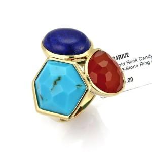 Ippolita Gelato Multicolor 3 Stone 18k Yellow Gold Large Ring