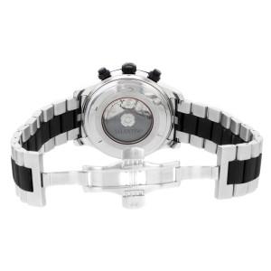 Valentino Steel Rubber Black Dial Chrono Automatic Mens Watch V40LCA9R909-S09R