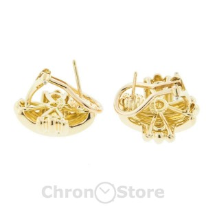 Tiffany & Co. Criss Cross 18K Yellow Gold Ladies Earrings