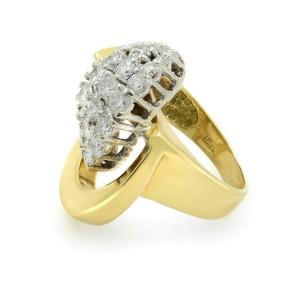 Rachel Koen 18K Yellow Gold Diamond 1.65cttw Ring Size 5.5