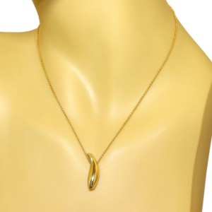 Tiffany & Co. Frank Gehry 18k Yellow Gold Fish Pendant & Chain Necklace