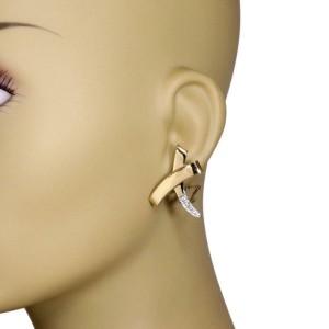Tiffany & Co. Picasso Diamond 18k Yellow Gold Platinum Kiss X Earrings