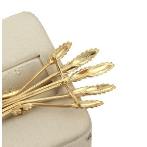 Tiffany & Co. 18k Yellow Gold Sheaf of Wheat Brooch Pin