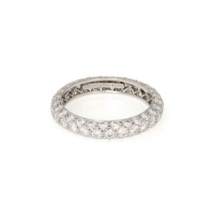 Tiffany & Co Etoile 1.51ct Diamond 3 Row Platinim Band Ring Size 6.25 $9500