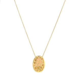 Roberto Coin 18k Yellow Gold 1.60 Cttw Diamonds Moonstone Pendant Necklace