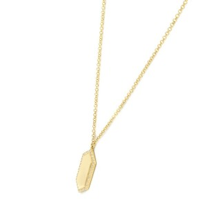 Rachel Koen 14K Yellow Gold Pave Diamond 0.09cttw 18 Inch Bar Necklace