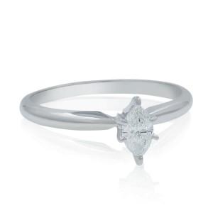 Rachel Koen Ladies Engagement Ring Marquise Diamond Cut 14K Gold 0.27ctw size 6