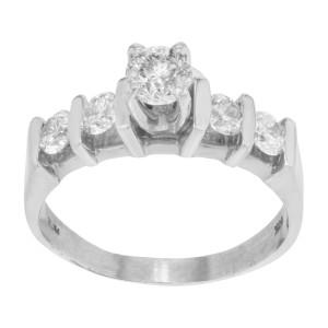 Rachel Koen 14k Gold Diamond Accented Womens Engagement Ring 0.86 Cttw Size 6.75