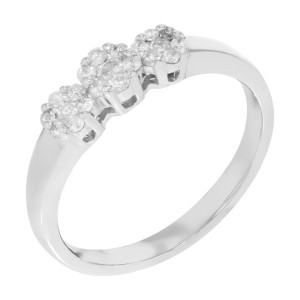 Rachel Koen 14k White Gold 0.29 Cttw Diamonds Womens Ring Size 7.25