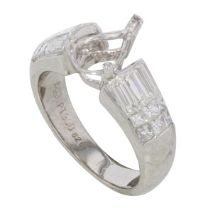 Rachel Koen Platinum 1.25 Cttw Diamonds Accent Stones Engagement Ring Casting