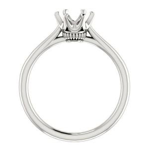 Rachel koen 14K Gold Tulip Six Prong Round Engagement Ring Mounting Size 6.5