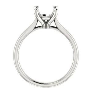 Rachel Koen Four Prong Cathedral Round Engagement Ring Mounting 14K White Gold