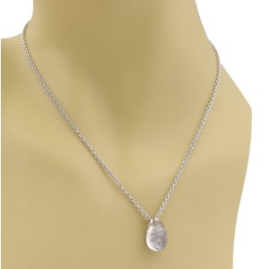 Cartier MIST Diamonds 18k WGold Clear Quartz Bubble Pendant Necklace Paper