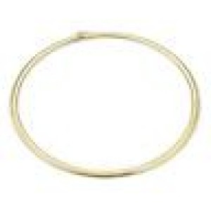 """14k Yellow Gold 6mm Wide Omega Design Collar Necklace Italy 18"""" Long"""