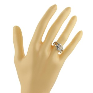 Chopard Happy Diamonds 18k White Gold Heart Ring Size 4