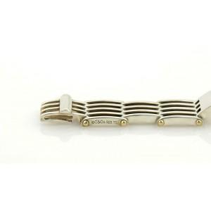 Tiffany & Co. Sterling Silver 18K Yellow Gold ID Bar Gatelink Bracelet
