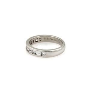 Tiffany & Co. Channel Set Baguette & Round Diamond Platinum Ring Ret:$3,750