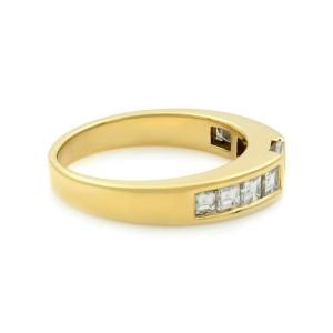 Tiffany & Co 18K Yellow Gold Princess Cut Diamond Stack Ring 0.77cts SZ 6