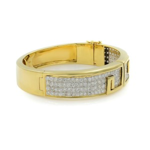 Rachel Koen Vintage 18K Yellow Gold Diamond Bangle Bracelet 6.00cts