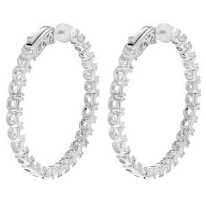 Rachel Koen Hoop Earrings Casting 14K White Gold