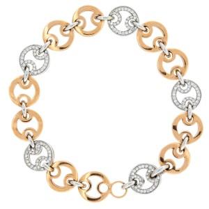 Roberto Coin  Diamond Link Bracelet by Roberto Coin Pave Set Diamonds 0.73cts