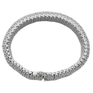 Rachel Koen 14K White Gold Flexible Diamond Tennis Bracelet 27.80cts