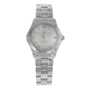 TAG Heuer Aquaracer White Mother of Pearl Dial Steel Ladies Watch WAF1312.BA0817