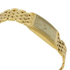 Tissot New Helvetia 18k Yellow Gold Arabic Dial Quartz Mens Watch T73.3.602.22