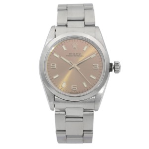 Rolex Oyster Perpetual Steel Bronze Lumed Dial Automatic Ladies 1995 Watch 67480