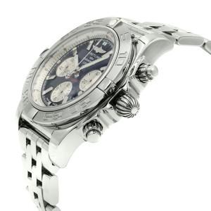 Breitling Chronomat 44 Black Dial Steel Automatic Mens Watch AB011011/B967-375A