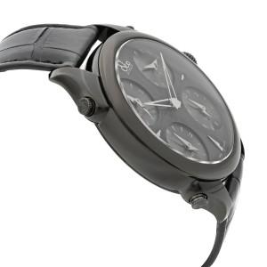 Jacob & Co. Palatial 5 Time Zone Steel Black Dial Mens Watch PZ500.11.NS.LA.A