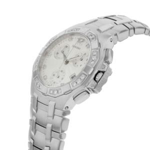 Concord Saratoga Diamond Guilloche Silver Dial Steel Quartz Ladies Watch 310889