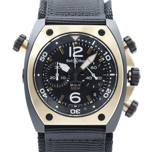 Bell and Ross Marine PVD Steel 18K Rose Gold Automatic Watch BR02-CHR-BICOLOR