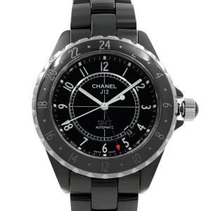 Chanel J12 GMT Black Arabic Dial Ceramic Automatic Unisex Watch H2012