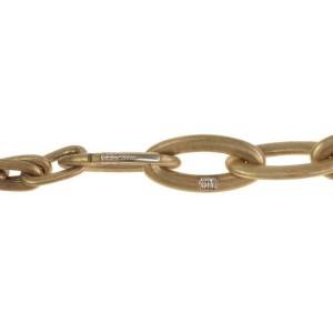65250 Nanis Italy Diamond 18k YGold Large Oval Link Pendant Necklace & Bracelet
