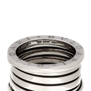 Bvlgari Bulgari B Zero 1 18k White Gold 13mm Band Ring Size 53-US 6.25