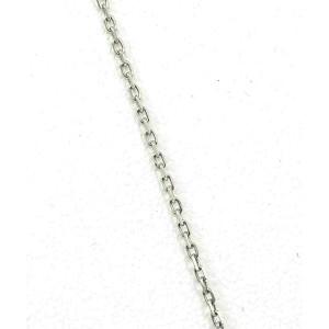 Double Layer 18k White Gold Diamond & Gem Card Pendant
