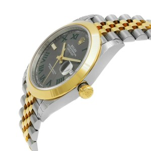 Rolex Datejust 41 Steel  Yellow Gold Wimbledon Dial Mens Watch 126303-SLTRJ