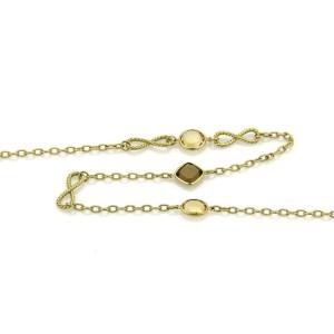 "David Yurman Citrine & Smokey Topaz 18k Yellow Gold Long Necklace 35.5""L"