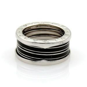 Bvlgari Bulgari B Zero-1 Biselovan 18k Gold & Enamel Band Ring Size EU 55-US 7