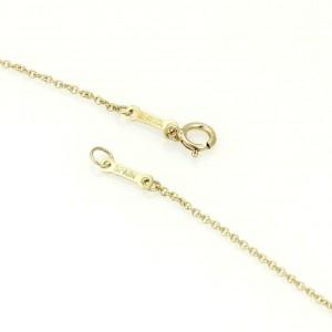 Tiffany & Co. Peretti 18k Yellow Gold Double Tear Drop Pendant & Chain