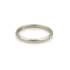 Bvlgari Bulgari Platinum 2.5mm Dome Wedding Band Ring Size EU 63-US 10 w/Cert