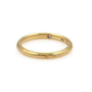 Chaument Paris 18k Yellow Gold 2.3mm Wide Dome Wedding Band Ring Size 6